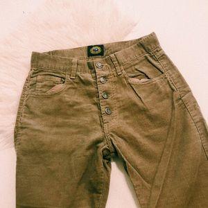 Vintage High Waisted Corduroy Pants